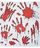 Stickers van bloedende handen
