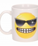 Stoere emoticon beker mok 300 ml