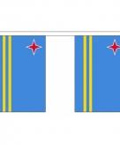 Stoffen vlaggenlijn slingers aruba 3 meter