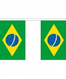 Stoffen vlaggenlijn slingers brazilie 3 meter