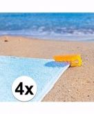 Stranddoek klemmen geel 4 stuks