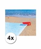 Stranddoek klemmen rood 4 stuks
