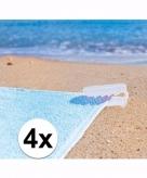 Stranddoek klemmen wit 4 stuks