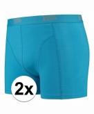 Stretch boxershorts fel blauw 2 x voor heren
