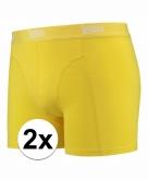 Stretch boxershorts fel geel 2 x voor heren