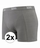 Stretch boxershorts grijs 2 x voor heren