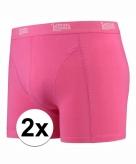 Stretch boxershorts roze 2 x voor heren