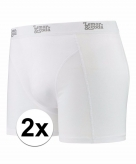 Stretch boxershorts wit 2 x voor heren