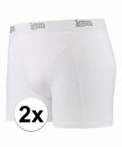 Stretch boxershorts wit 2 x voor heren