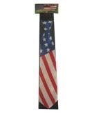 Stropdas met amerika vlag kleuren