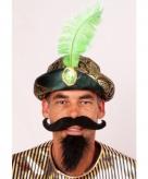 Sultan hoed met groene veer