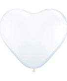 Super grote witte hartjes ballon