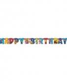 Super mario verjaardag letterslinger