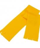Super voordelige gele fleece sjaal voor kids