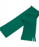 Super voordelige groene fleece sjaal voor kids
