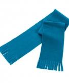 Super voordelige lichtblauwe fleece sjaal voor kids