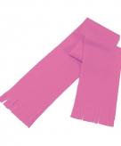 Super voordelige roze fleece sjaal voor kids