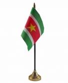 Suriname versiering tafelvlag 10 x 15 cm