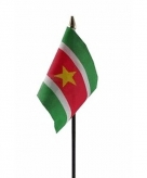 Suriname vlaggetje polyester