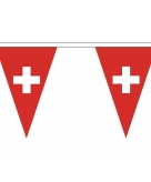 Switzerse vlaggenlijn van stof 5 m
