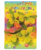Tafelkleed klemmen gekleurde bloem 4 stuks