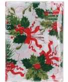 Tafellaken hulsttakkenprint wit 180cm