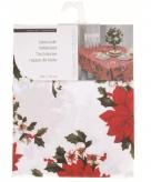 Tafellaken kerstprint wit 180cm
