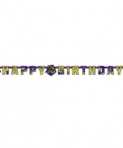 Teenage mutant ninja turtles happy birthday letter banner