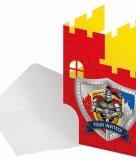 Thema ridder uitnodigingen
