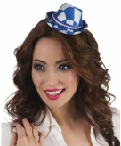 Tiara met blauwe oktoberfeest hoedje