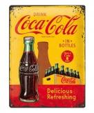 Tinnen plaatje drink coca cola 30 x 40 cm