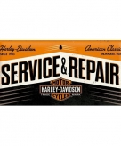 Tinnen plaatje service repair 25 x 50 cm