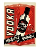 Tinnen plaatje vodka 30 x 40 cm