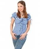 Tiroler blouse blauw wit voor dames