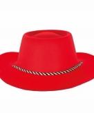 Toppers wilde westen cowboyhoed rood