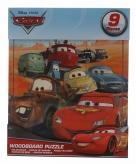 Traktatie speelgoed cars puzzeltjes 9 stuks