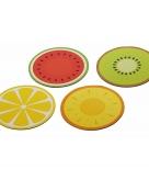 Tropische vrucht placemats 4x