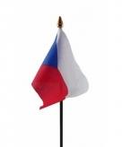 Tsjechie vlaggetje polyester