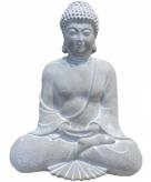 Tuinbeeld boeddha mediterend 28 cm