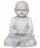 Tuinbeeld monnik meditatie 41 cm