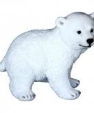 Tuinbeeldje ijsbeer diertje 18 cm