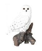 Tuinbeeldje sneeuwuil vogeltje 32 cm
