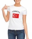 Turkse vlag t-shirt voor dames