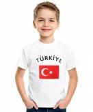 Turkse vlag t-shirts voor kinderen