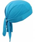 Turquoise blauwe sport bandana