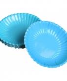 Turquoise snack schaaltjes 16 cm