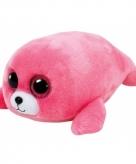 Ty beanie boo s pluche roze zeehond 15cm
