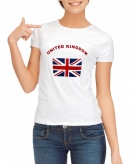 Union jack vlag t-shirts dames
