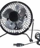 Usb ventilator zwart 15 cm