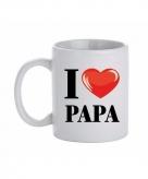 Vaderdag i love papa koffiemok beker 300 ml